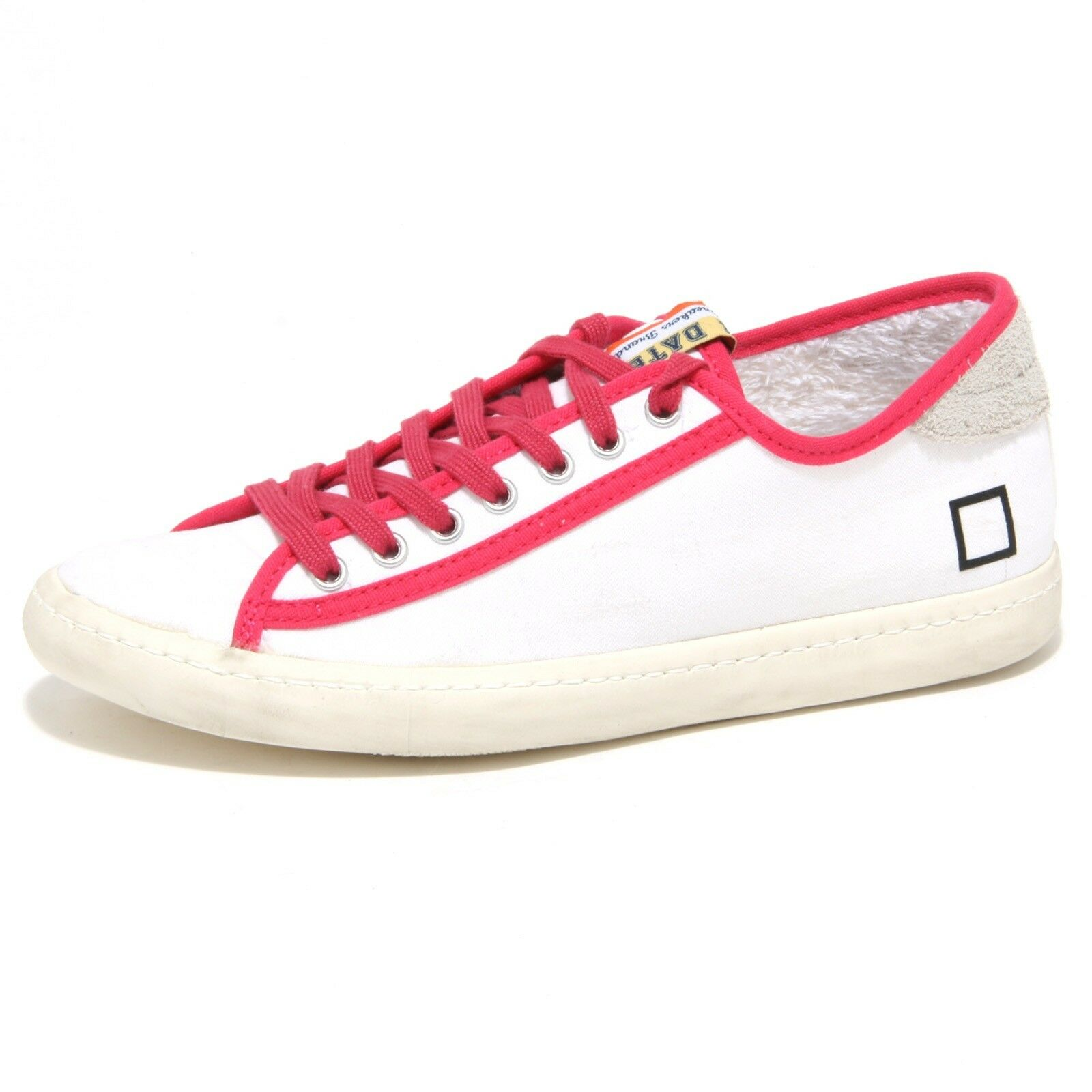Zapatos promocionales para hombres y mujeres 0806O sneakers donna D.A.T.E. TENDER bianco/fuxia shoes woman