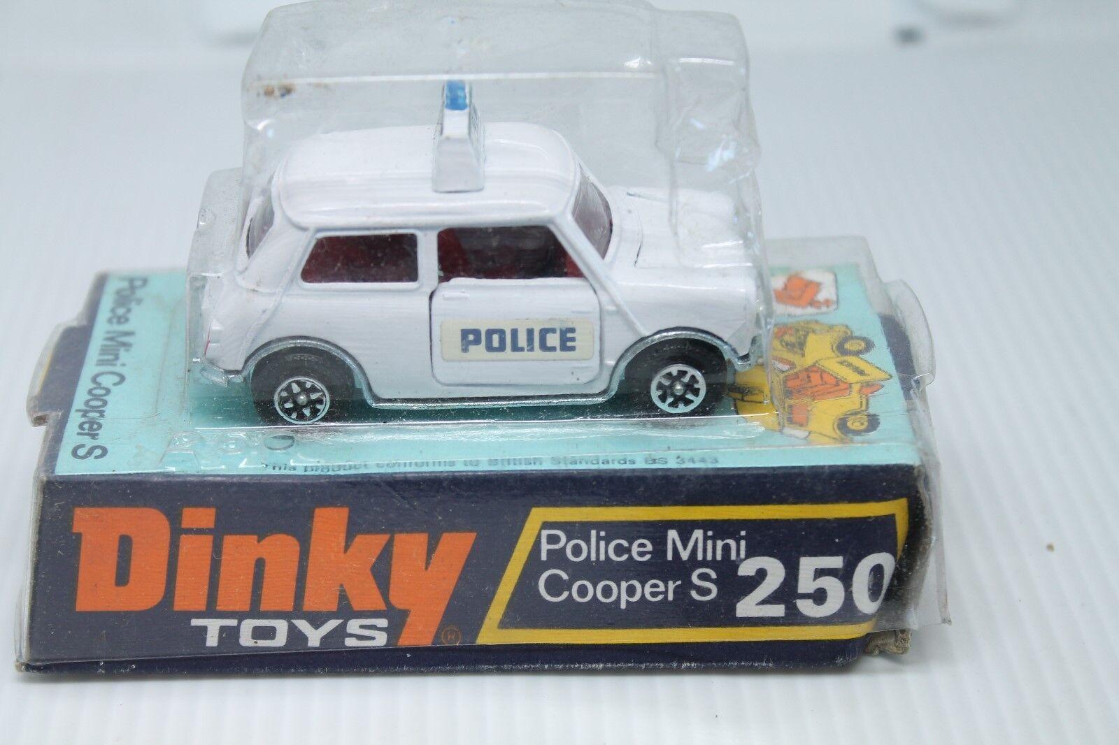 Dinky Juguetes 250  mini cooper s police  1 43  embalaje original  speedwheels  1973 (2)