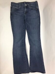 Seven-for-all-Mankind-039-A-039-Pocket-Bootcut-Women-039-s-Dark-Wash-Skinny-Jeans-Size-24