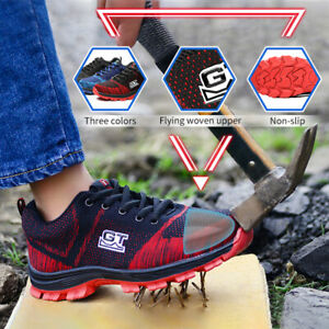 Men/'s Safety Work Shoes Steel Toe Work Boots Breathable Outdoor Hiking Climbing