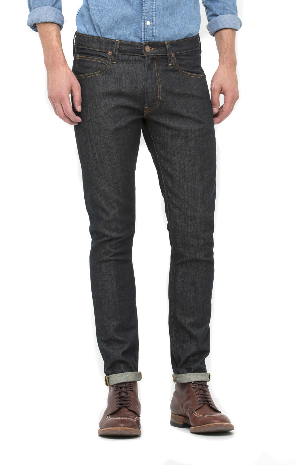 Lee Luke Slim Tapered Jeans Unwashed Rinse bluee Cause SALE RRP