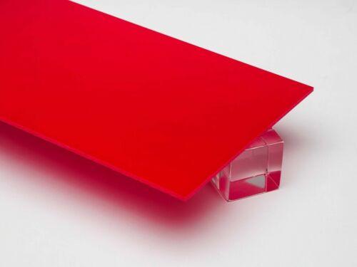 """For DIY, Craft,... 1//8/"""" Red Acrylic Plexiglas Plastic Sheet 8/"""" x 12/"""""""