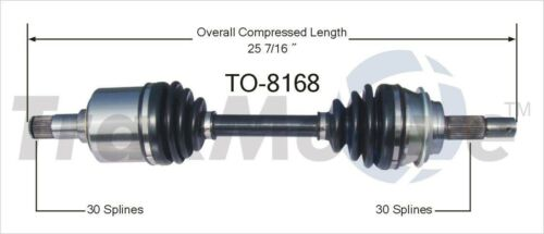 CV Axle Shaft Front-Left//Right SurTrack TO-8168