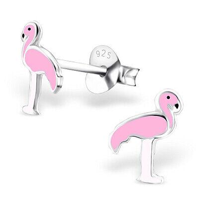 ICYROSE 925 Sterling Silver Tiny Pink Crystal Flamingo Stud Earrings 31402 Nickel Free