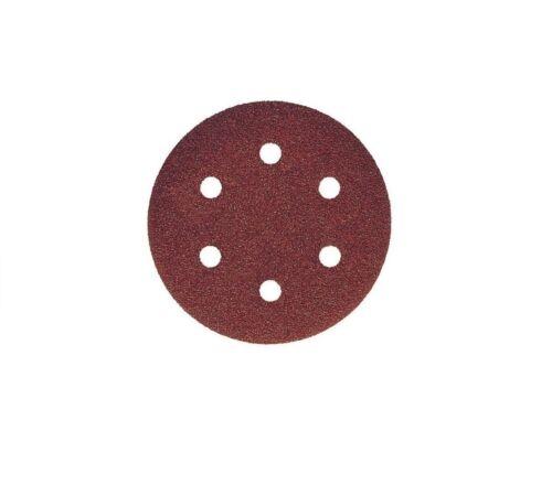 150mm Dry Sanding Discs 5in Sandpaper Hook /& Loop No Hole  40-400 Grit 6 Hole