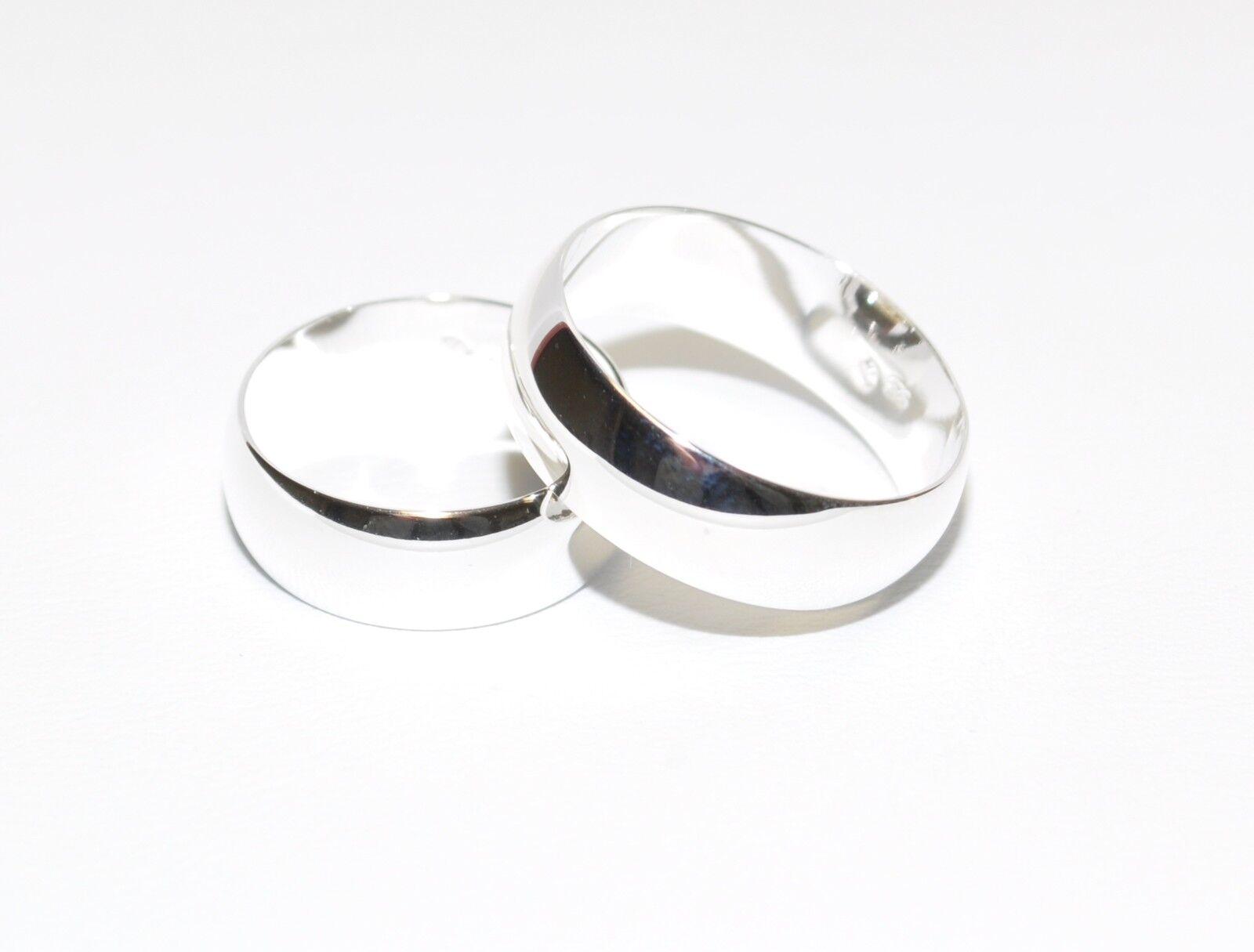 925 silver - Ehering - Trauring - Partnerring - Höchste Qualität - 7 mm Breit