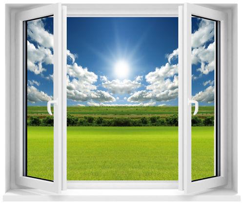 Aufkleber Fenster Schein Auge Sonne
