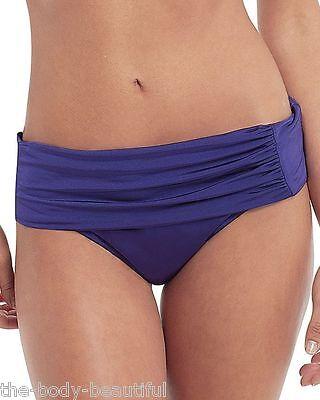 Panache SW0757 Swimwear Halle Bikini Fold Waist  Pant Brief Black