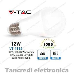 Lampadina-led-V-TAC-12W-75W-E27-VT-1864-A60-SMD-globo-bulbo-sfera-lampadine