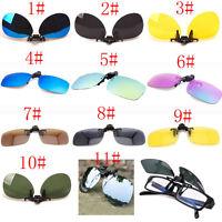 11 Colors Men/Women Polarized UV400 Lens Clip-on Flip-up Myopia SunGlasses TY