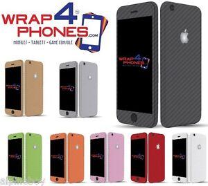 Con-trama-in-fibra-di-carbonio-pelle-coprire-Adesivo-Decalcomania-Vinile-Avvolgere-Apple-iPhone-7-7