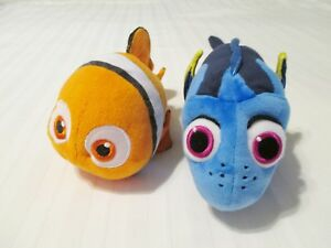Pair Disney Finding Nemo Dory Ty Sparkle Nemo Dory Plush Stuffed