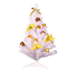 Abete-artificiale-30cm-bianco-con-decorazione-albero-di-Natale-Albero-di-Avv