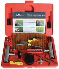 Boulder Tools 56 Pc Heavy Duty Tire Repair Kit For Car Truck Rv Jeep Atv