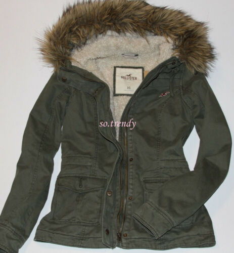 Parca Giacca Hollister Donna Cappotto By Foderato Abercrombie Invernale Sherpa gxWnzBfCW