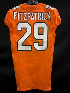 #29 MINKAH FITZPATRICK MIAMI DOLPHINS TEAM ISSUED ORANGE COLOR RUSH JERSEY