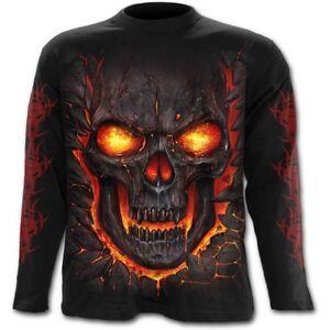 Spiral-Direct-SKULL-LAVA-Long-sleeve-T-Shirt-Death-Flames-Reaper-Skulls-Tee