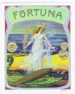 Fortuna, Original Externe Cigare Boîte Label, Femme H8nf87rt-08002226-849566915