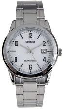 Casio Men's Analog Solar Powered Stainless Steel Watch MTPVS01D-7B