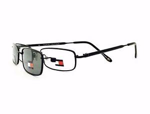 5479d783f1290 New Tommy Hilfiger Eyeglasses w Polarized Clip 3085 Blk 51•18•143 ...