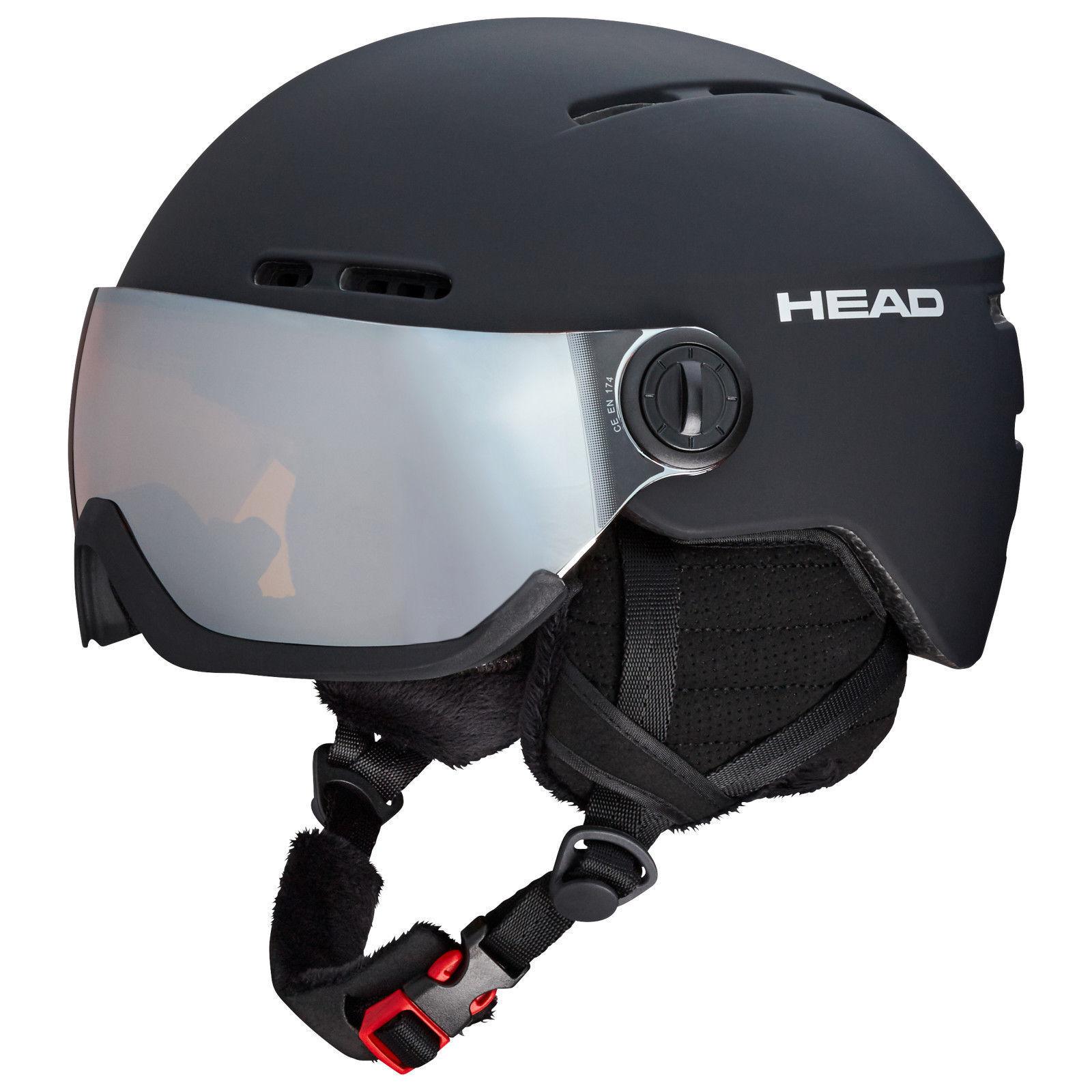 HEAD Skihelm KNIGHT schwarz Visierhelm Größenwahl Modell 2018 2019  NEUWARE