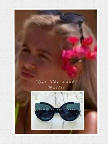 Noir Cateye Lunettes de Soleil Mollie Love Celebrity