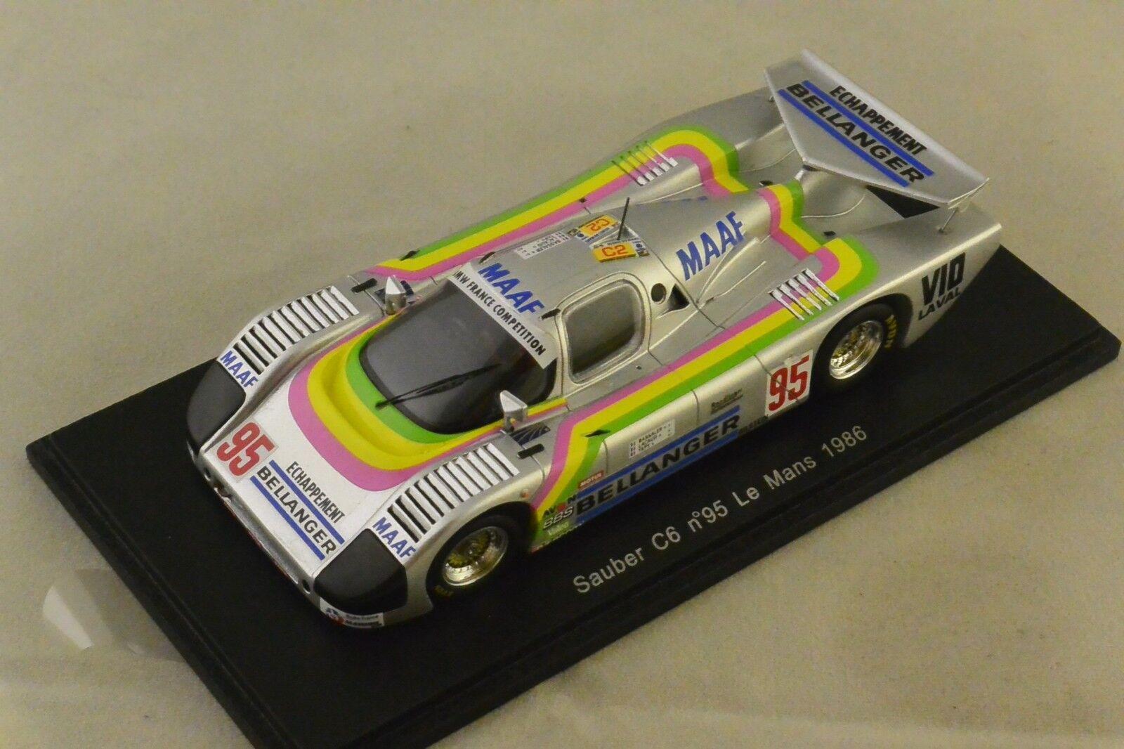 Spark S4081 - SAUBER C 6 n°95 Le Mans 1986 R. Bassaler - D. Lacaud - Tapy 1 43