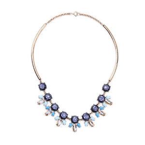 Collar-Dorado-Mi-Largo-Floral-Multicolor-Azul-Marino-Turquesa-Ambar-Retro-QT-2