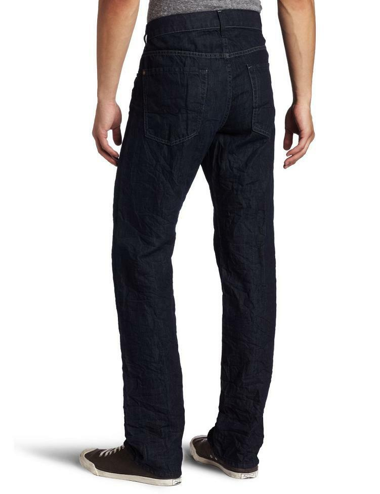 7 for All Mankind Linen Mens Austyn Relaxed Straight Jeans MADE IN USA NEW 33x34