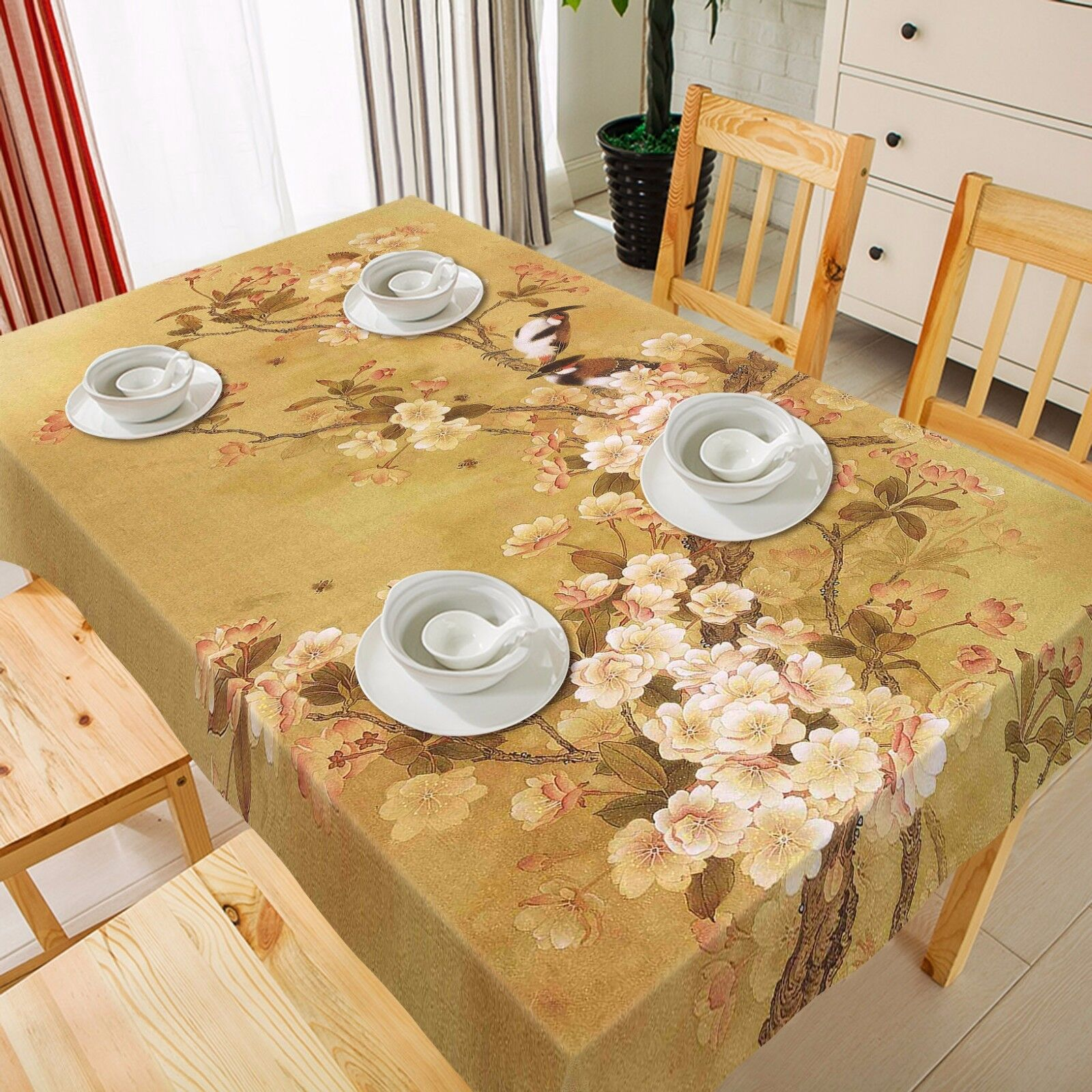 3D Flores 970 Mantel Mantel Paño Fiesta de Cumpleaños Evento AJ Wallpaper