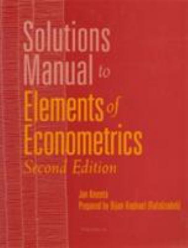 Elements of Econometrics Paperback Jan Kmenta