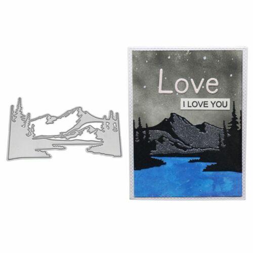 Mountain River Cutting Dies Stencil DIY Scrapbooking Album Paper Card Embossing