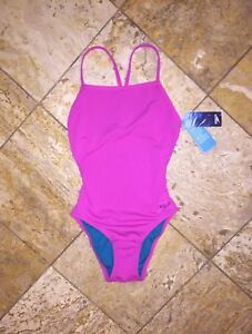 933f00854a NWT $70 Speedo One Back Solid Endurance Lite Pink One-Piece Swimsuit ...