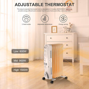 Oil-Filled-Radiator-Heater-Electric-Space-Heater-Portable-1500W-LIVINGbasics