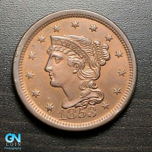 1853-Braided-Hair-Large-Cent-MAKE-US-AN-OFFER-G8846
