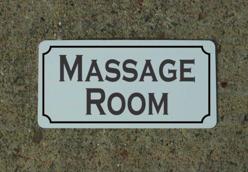 "MASSAGE ROOM 6/""x12/"" Tin Metal Sign Vintage Style Design Decor"