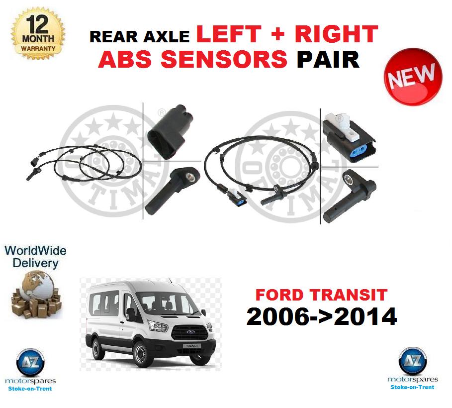 Für Ford Transit Abs-Sensoren Paar 2006-   2014 Hinterachse Links & Rechts Hand