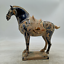 9-1-034-Collect-Old-Chinese-Ceramics-Tang-Sancai-Pottery-Ancient-War-horse-Statue thumbnail 1