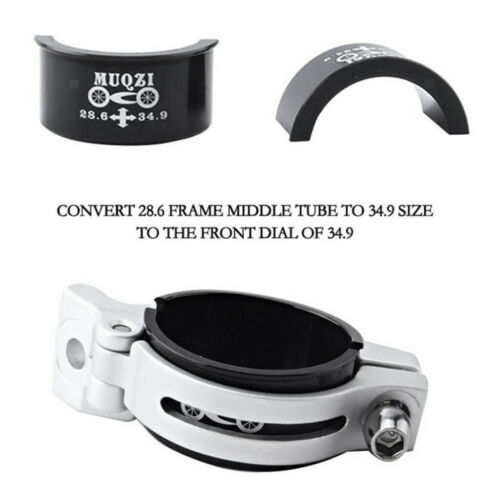 Bicycle Front Derailleur Clip Clamp Shim Adapter Converter Kit 28.6mm to 34.9mm