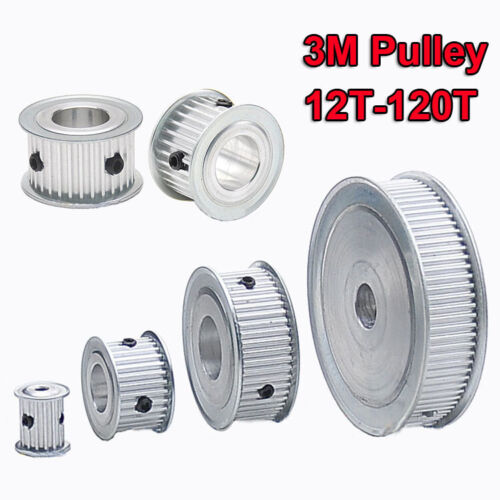 3M Timing Belt Pulley 12T-120T Tooth Width 15mm Pitch 3mm Synchronous Wheel Gear