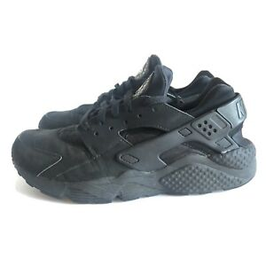 Details about Nike Air Huarache 318429-003 Mens 9 Black Running Shoes  Sneakers Ankle Support