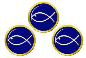 Jesus-Poisson-Ichthys-Marqueurs-de-Balles-de-Golf