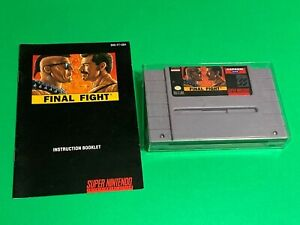 WORKING-SUPER-NINTENDO-SNES-GAME-Capcom-FINAL-FIGHT-MANUAL
