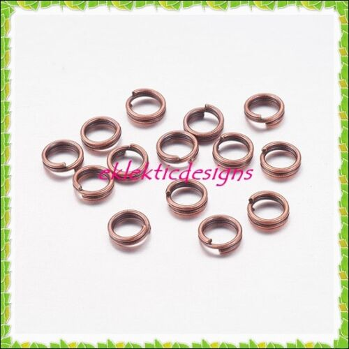 5mm 200pcs Antique Copper Bronze Split Dbl Jump Rings Jewelry Findings Earrings