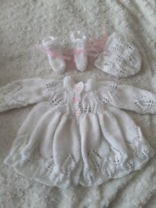Belle Hand Knitted Newborn Baby-afficher Le Titre D'origine Lustre Brillant