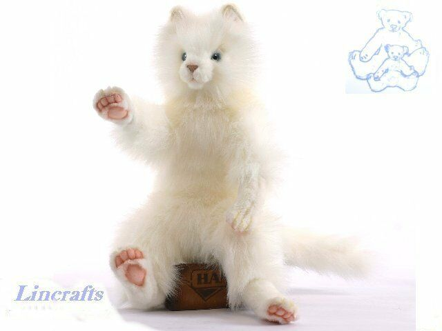 Cuddly Weiß Cat Plush Soft Toy by Hansa. Sold by Lincrafts. 4643