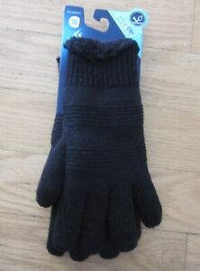Isotoner SmartDRI Women's Gloves One Size -Black  Cable Knit - NWT MSRP $25