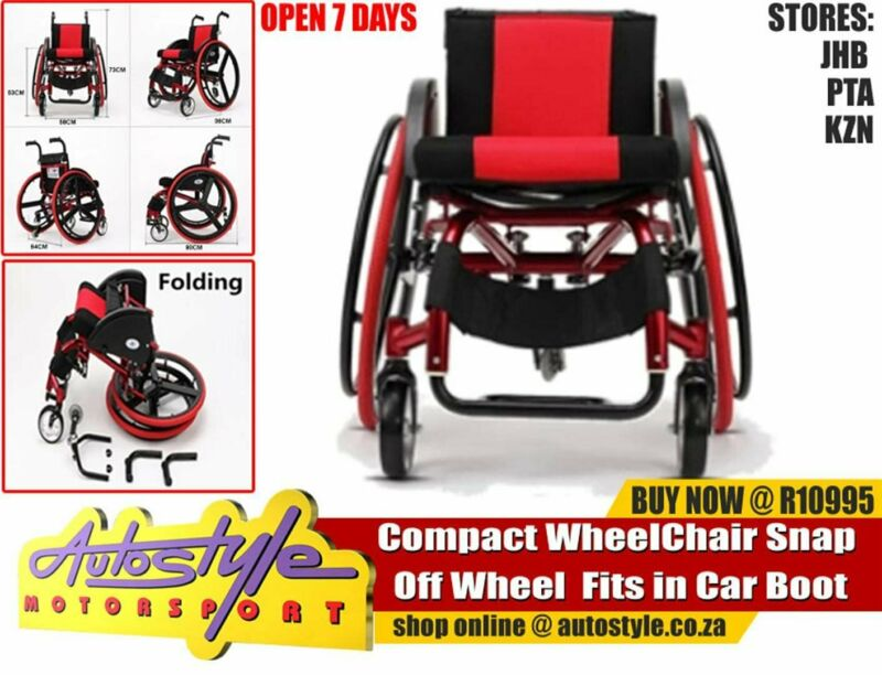 Wheelchair - Compact Fold up  Wheel Chair Snap Off Wheel  Fits in Car Boot R10 995 brand new nationw