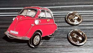 BMW-Pin-Isetta-rot-lackiert-Masse-33x26mm