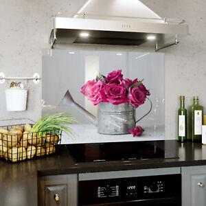 Vetro-Splashback-cucina-amp-BAGNO-Pannello-di-qualsiasi-dimensione-Rose-Rosa-Vintage-Chic-0346